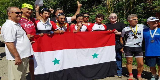 5 ميداليات لمنتخب سورية للدراجات في بطولة سوتشي بروسيا